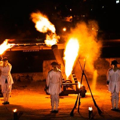 Photo of Canon Shot Ceremony at La Cabaña fort excursion
